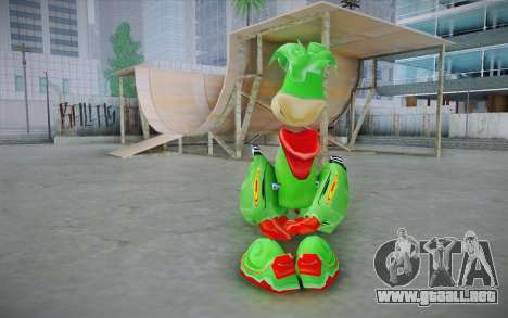 Vortex Rayman Skin para GTA San Andreas segunda pantalla