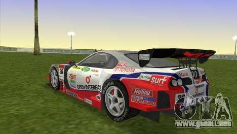 Toyota Supra RZ JZA80 Super GT Type 6 para GTA Vice City left