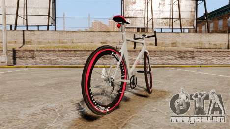 GTA V Endurex Race Bike para GTA 4 Vista posterior izquierda