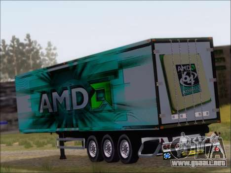 Trailer AMD Athlon 64 X2 para GTA San Andreas vista posterior izquierda