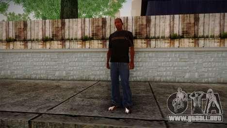 Black RX T-Shirt para GTA San Andreas tercera pantalla
