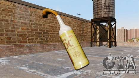 El cóctel Molotov-espiga de Cebada- para GTA 4 segundos de pantalla