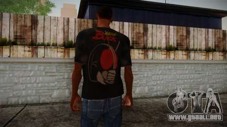 Black RX T-Shirt para GTA San Andreas segunda pantalla