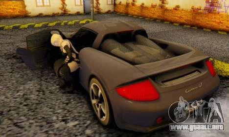 Porsche Carrera GT 2005 para GTA San Andreas vista hacia atrás