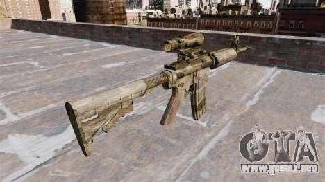 Automatic carbine ME Camuflaje Flora para GTA 4 segundos de pantalla