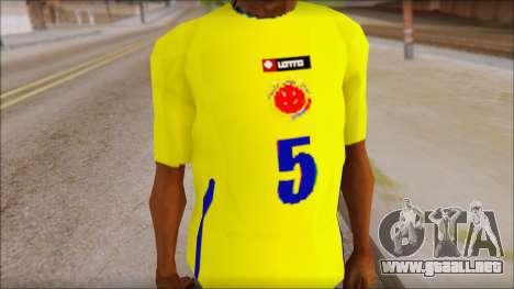 T-Shirt Colombia para GTA San Andreas tercera pantalla