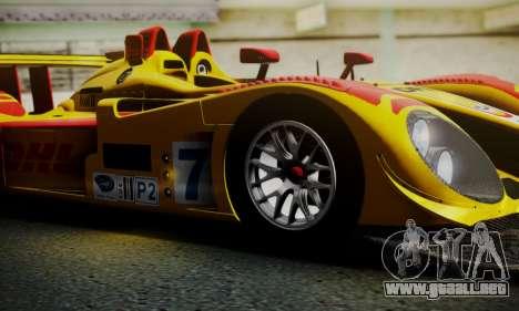 Porsche RS Spyder Evo 2008 para vista inferior GTA San Andreas