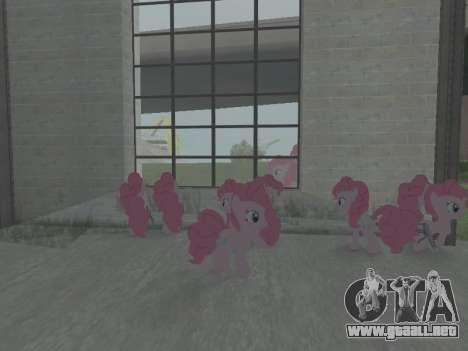 Pinkie Pie para GTA San Andreas quinta pantalla