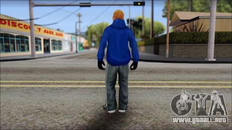 Jimmy from Bully Scholarship Edition para GTA San Andreas tercera pantalla