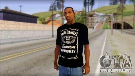 Jack Daniels T-Shirt para GTA San Andreas