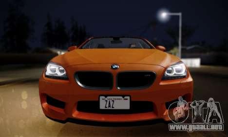 BMW M6 F13 2013 para GTA San Andreas vista posterior izquierda