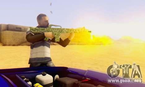 Camo M16 para GTA San Andreas segunda pantalla