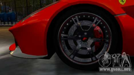 Ferrari LaFerrari WheelsandMore Edition para GTA 4 vista hacia atrás