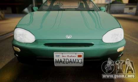 Mazda MX-3 para GTA San Andreas vista posterior izquierda