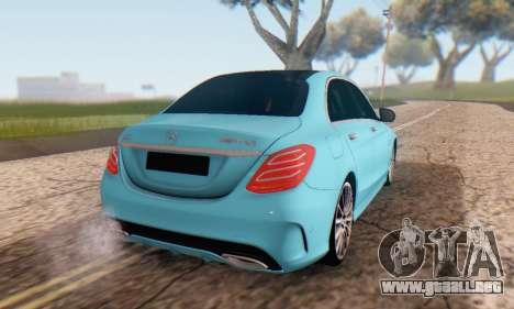 Mercedes-Benz C250 AMG para visión interna GTA San Andreas