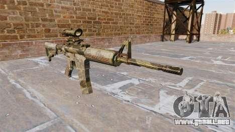 Automatic carbine ME Camuflaje Flora para GTA 4
