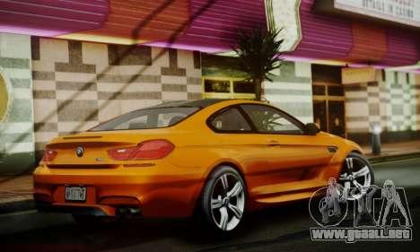 BMW M6 F13 2013 para GTA San Andreas vista hacia atrás