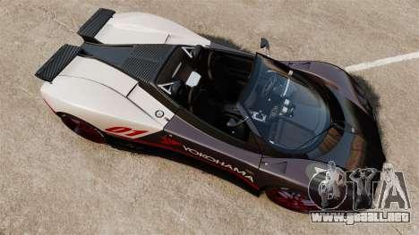 Pagani Zonda C12S Roadster 2001 v1.1 PJ4 para GTA 4 visión correcta