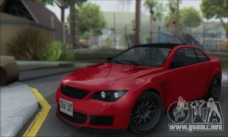 La superioridad Sentinel XS para GTA San Andreas left