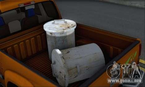 Chevrolet Colorado Cleaning para GTA San Andreas vista hacia atrás