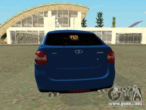 Lada Granta Liftback para GTA San Andreas vista hacia atrás