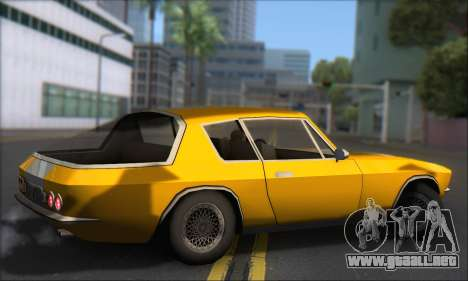 Jensen Intercepter 1971 Fast And Furious 6 para GTA San Andreas vista posterior izquierda