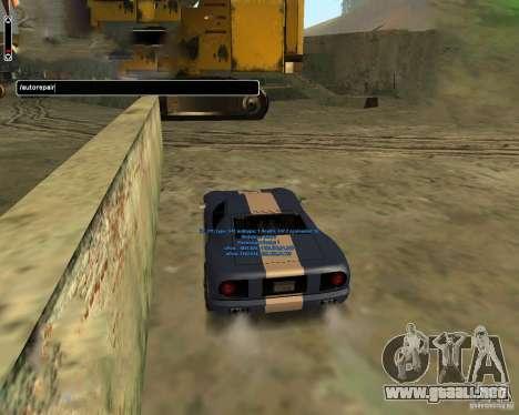 Autorepair para GTA San Andreas tercera pantalla