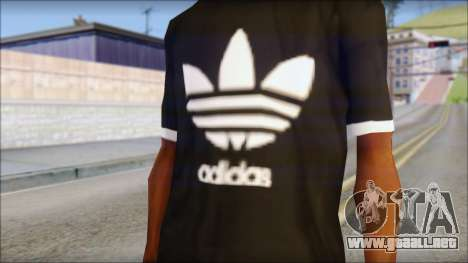Adidas Black T-Shirt para GTA San Andreas tercera pantalla