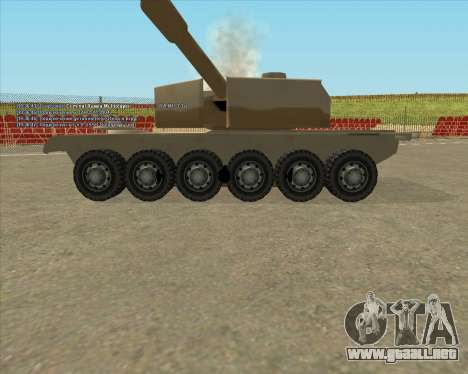 Dozuda.s Primary Tank (Rhino Export tp.) para GTA San Andreas vista hacia atrás