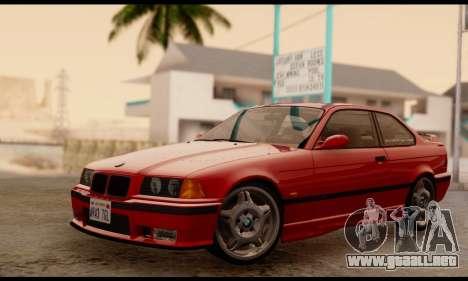 BMW M3 E36 1994 para GTA San Andreas vista posterior izquierda
