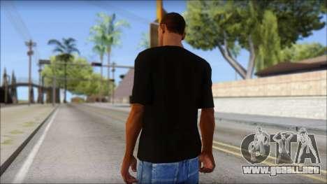 Black Izod Lacoste T-Shirt para GTA San Andreas segunda pantalla