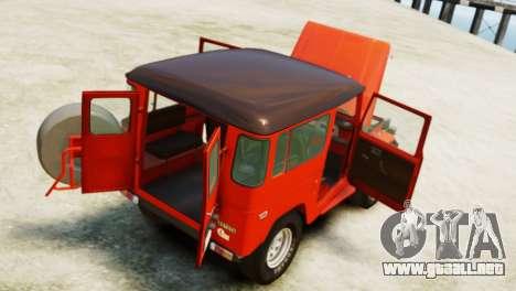 Toyota FJ40 Land Cruiser 1978 Beta para GTA 4 vista hacia atrás