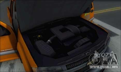 Chevrolet Colorado Cleaning para GTA San Andreas interior