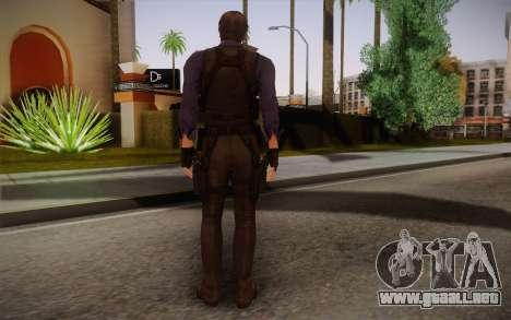 Leon Kennedy from Resident Evil 6 para GTA San Andreas segunda pantalla