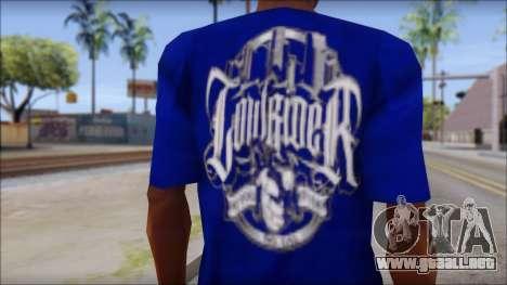 Lowrider Blue T-Shirt para GTA San Andreas tercera pantalla