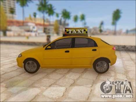 Chevrolet Lacetti Taxi para GTA San Andreas left