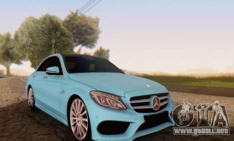 Mercedes-Benz C250 AMG para GTA San Andreas vista hacia atrás
