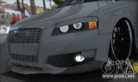 Audi S3 2006 Custom para GTA San Andreas vista posterior izquierda