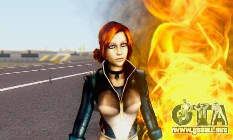 Jessica para GTA San Andreas segunda pantalla
