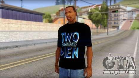 Two and a half Men Fan T-Shirt para GTA San Andreas