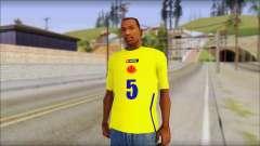 T-Shirt Colombia para GTA San Andreas