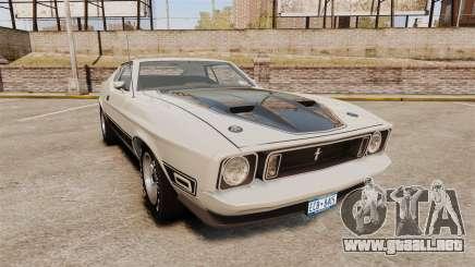 Ford Mustang Mach 1 1973 v3.0 GCUCPSpec Edit para GTA 4