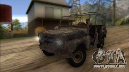 Quemado UAZ 469 para GTA San Andreas