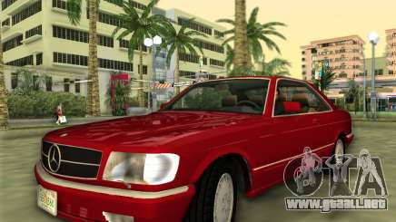 Mercedes-Benz 560SEC (W126) 1987 para GTA Vice City