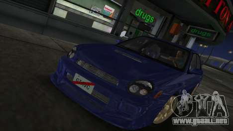 Subaru Impreza WRX 2002 Type 2 para GTA Vice City vista lateral izquierdo