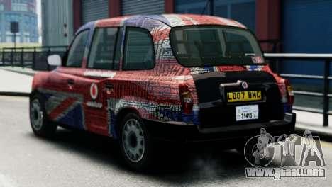 London Taxi Cab v2 para GTA 4 left