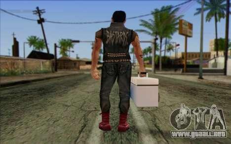 Claude in Pank Style para GTA San Andreas segunda pantalla