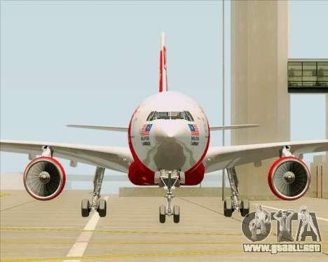 Airbus A330-300 Air Asia X para vista lateral GTA San Andreas