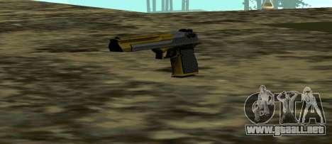 Gold Deagle para GTA San Andreas tercera pantalla