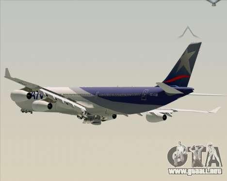 Airbus A340-313 LAN Airlines para las ruedas de GTA San Andreas